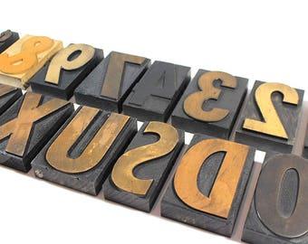 YOU PICK - 4 Inch Wooden Letterpress - Printers Type
