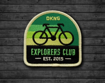 Explorers Club: Cyclist Embroidered Patch