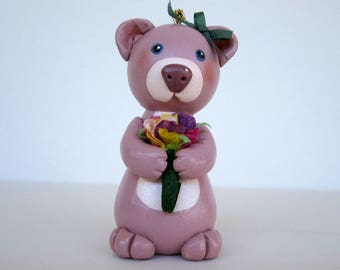 Bear with Posies Ornament