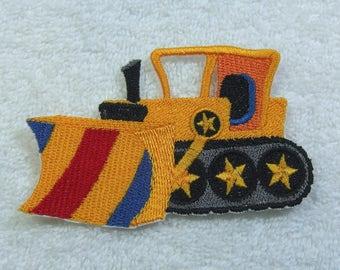 Grader Dozer Bulldozer Embroidered Iron on Applique Patch Ready to Ship
