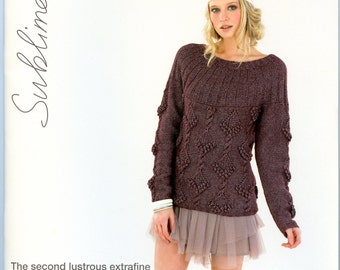 The Second Lustrous Extrafine Merino DK Book - Sublime Knitting Pattern Book 664 - 16 Designs for Women