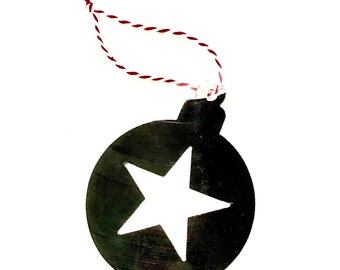 Vinyl Record Art:  Star Bulb Ornament