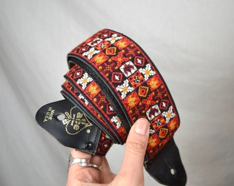 Vintage Boho Woven Guitar Camera Strap - ACE