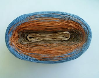 MONGOOSE -- 150 gr/720 yards -- Color Changing Cotton yarn --  Fingering Weight
