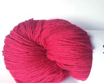 Dark Pink Fingering Weight Yarn, Naturally Dyed