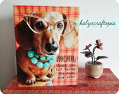 Mother's Day Retro Dachshund Card