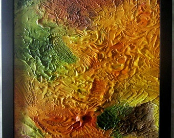 Dimensional Abstract Aerial Landscape Southwest Colors DAAL009SW