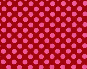 1/2 yard - Ta dot in Berry, Michael Miller Fabrics