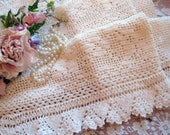 RESERVED for Michelle....Crochet Curtain, Handmade Curtain, Curtain Panel, Cottage Charm, French Country, by mailordervintage on etsy