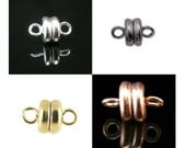 SUPER STRONG 7x6 mm silver, gold, or copper plated, or black oxide magnetic clasps, 6 or 12 clasps. Great for necklaces, lanyards, bracelets