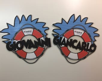 Carnival Cruise Door Decoration Magnet- Dr Seuss Thing 1 Thing 2 Inspired