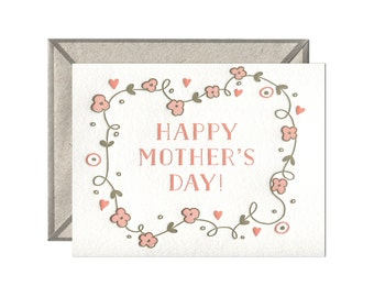 Happy Mother's Day letterpress card