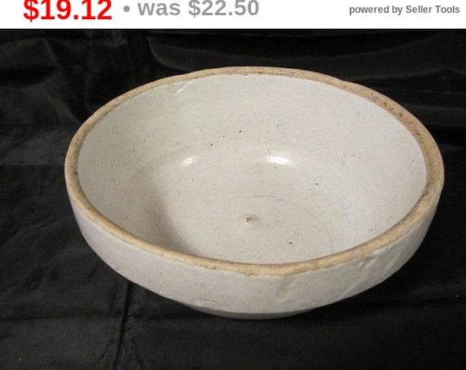 Old Antique Country Crock Bowl, Crock Serving Bowl, Fruit Bowl, Clay Bowl, Farm Crock Bowl, Crock Bowl, Antique Bowl, Primitive Bowl