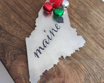 Maine Ornament Christmas Ornament ME Gift Ornament Gift I Heart Maine Christmas Ornament State Ornament Home is Maine