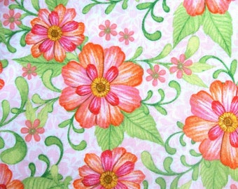 Charleston Pink Zinnia Garden by Nicole Tamarin for Quilting Treasures - 1 1/2 Yards, 1 Yards, 1/2 Yard, and Fat Quarters      03/2017