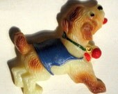 Dog Celluloid Vintage Brooch Pin Estate Jewelry Czech Original Card Bakelite Era Early Century Art Deco Signed Blue Estate 20s 30s Novelty