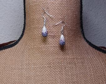 Natural Amethyst Gemstone Chips Solid Sterling Silver Earrings