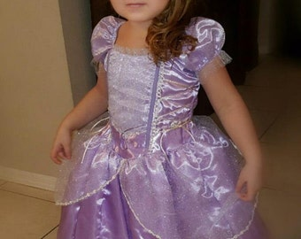 New Sofia Inspired princess birthday Costume dress size  2  6 8 10 Sale 50% off