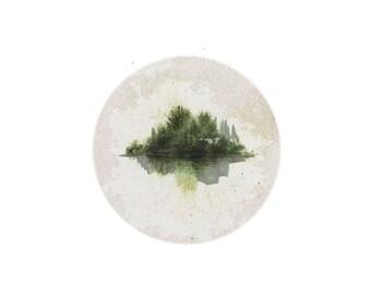 minimalist watercolor print: rockwell