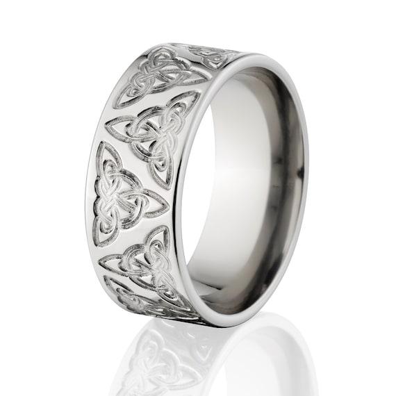 Custom Cobalt Celtic Ring Irish Wedding Rings Celtic Knot Ring
