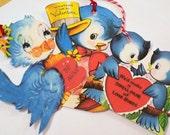 Bluebird Valentines - Variety Set 7 - Vintage Look - Bluebird Cowboy - Love Bluebirds - Kitschy Valentines - Gift Tags - Birds In Bonnets