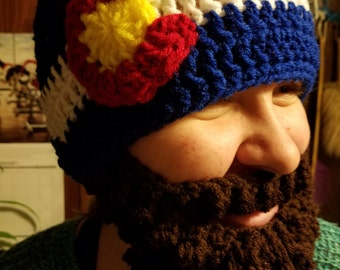 Colorado beard hat adult size