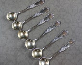 Set of 6 Vintage Small Sterling Silver Spoons