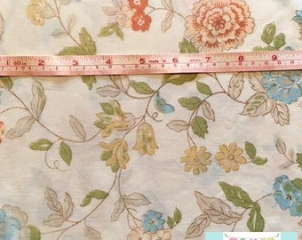 Vintage Shabby Aqua and Yellow Floral Pillowcase
