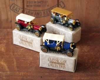 Miniature Classic Car Collection Lot of 3