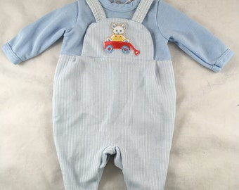 Vintage Gerber Baby One Piece Outfit. Vintage Layette. Baby Shower Present. Small. Up to 10 LBS Play Suit, One Piece Outfit, Sleeper. Teddy