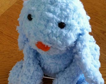 Hand crochet JellyCat Bashful Bunny or a Monkey / Amigurumi / handmade plush / pocket buddy / toy story time / Custom Made miniature Monkey