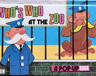 1973 WHO'S WHO at the ZOO A Pop Up Book