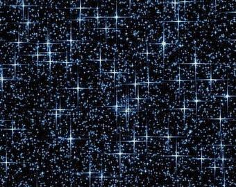 Night Sky, Quilt Fabric, 1 Yard, Navy Galileo Stars, Galileo Collection, Windham Fabrics, Vision Studios, Pattern 42562
