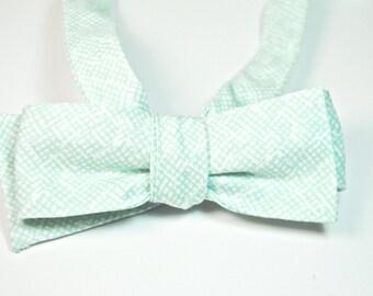 Mint Bow Ties Freestyle Bow Ties Mens Bow Ties Wedding Bow Ties Custom Bow Ties