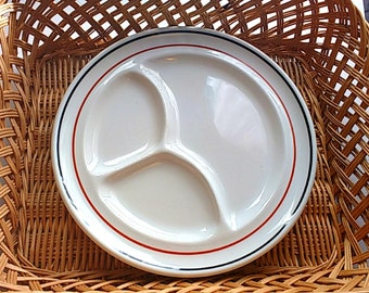 Wallace Restaurant Ware Divided Plate Rust and Black