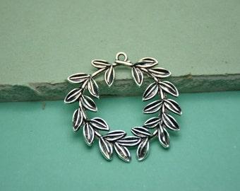 20pcs 43mmx43mm Tree Leaf Antique Silver Retro Pendant Charm For Jewelry Pendant