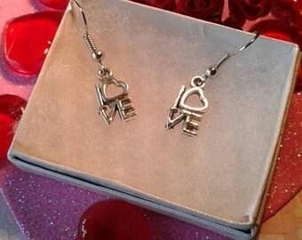Love Earrings,Heart Earrings