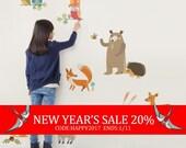 New Year's Sale - Woodland Nursery, Woodland Animals, Wall Decals Nursery, Owl Nursery Decor, Baby Nursery, Peel and Stick Stickers