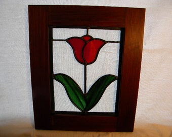 Red Tulip Window #5