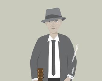 Leonard Cohen Print - Different Sizes