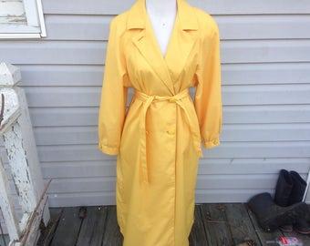 Mustard Yellow Trench Coat or Raincoat