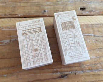 New-Japanese Wooden Rubber Stamps - Vintage / Antique Style Ticket  Stamps for Journaling, Scrapbooking, Packaging