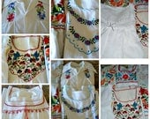 Vintage 70s - 9 piece wholesale  lot of cotton peasant, hippie, boho,gypsy tops all in excellent condition