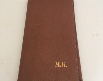 Vintage  Pigskin Leather Breast Coat Wallet Billfold