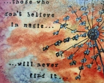 Believe in Magic 4x6 Magnet