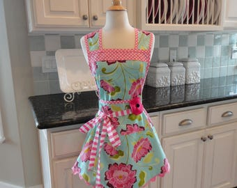 Raspberry Jam ~ Mother's Day ~Annie Style ~  Women's Cute Retro Apron ~ 4RetroSisters