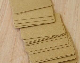 Eco Kraft Brown 250gsm 50pc handmade blank Business Cards