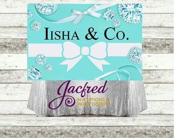 Personalized Baby & Co. Backdrop. Baby and Co. Candy table backdrop. (4ft x 6ft) (Digital or print)