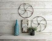 Farmhouse décor - spoke wheels – antique metal wheels - retro/rustic decor