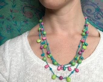 Turquoise Multi-strand Necklace